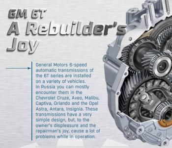 Automatic transmission GM 6T: A Rebuilder's Joy
